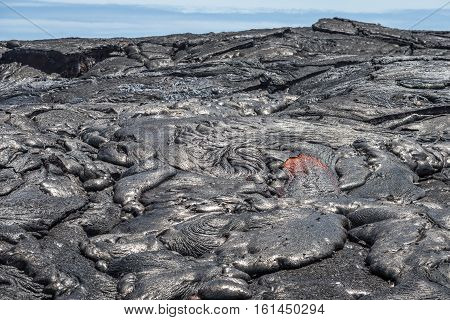 Lava Flow In Lava Field