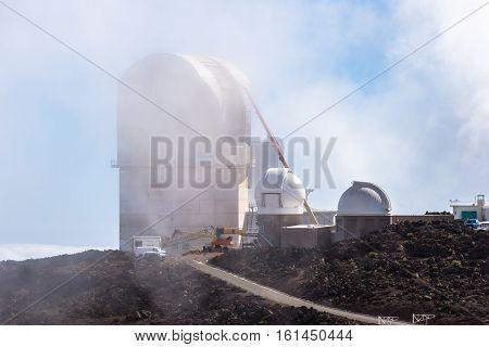 Haleakala Observatory on the mountain Maui Hawaii USA
