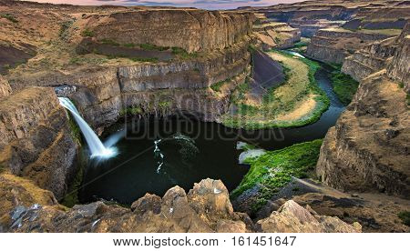 Beautiful landscape of Palouse Falls in Washington USA