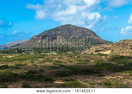 Koko Crater from overlook in Honolulu Hawaii