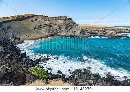 Landscape of Green Sand Beach Hawaii USA