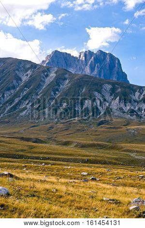 Italy Gran Sasso National Park the pasturelands of the Campo Imperatore plateau