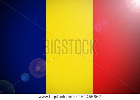 Chad flag , Chad national flag illustration symbol.