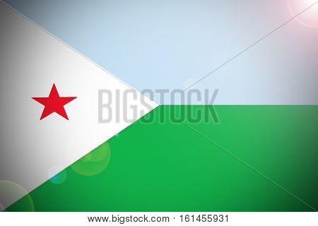 Djibouti flag Djibouti national flag illustration symbol.