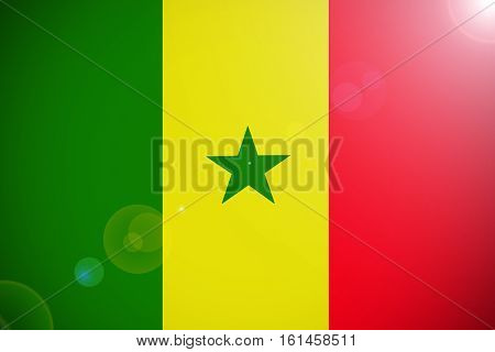 Senegal national flag illustration symbol. Senegal flag