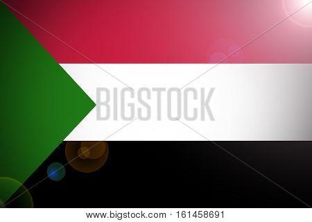 Sudan flag ,3D Sudan national flag illustration symbol.
