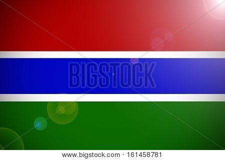 Gambia national flag illustration symbol .Gambia flag