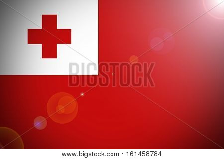 Tonga flag ,3D Tonga flag illustration symbol.