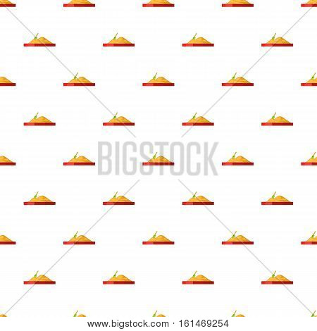 Sandbox pattern. Cartoon illustration of sandbox vector pattern for web