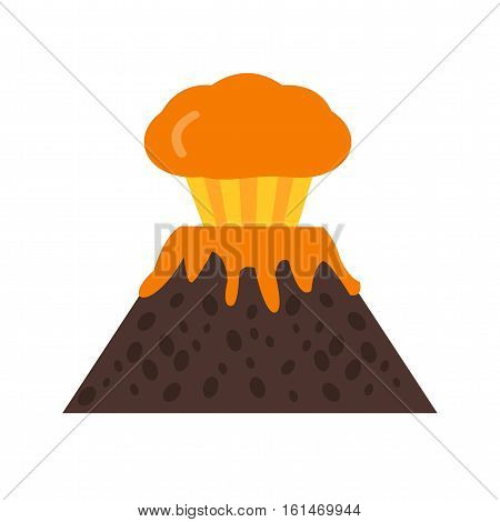 Volcano, risk, warning icon vector image. Can also be used for warning caution. Suitable for use on web apps, mobile apps and print media.