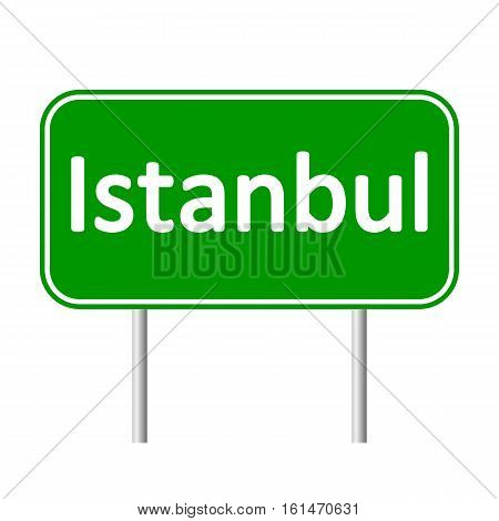 Istanbul road sign isolated on white background.