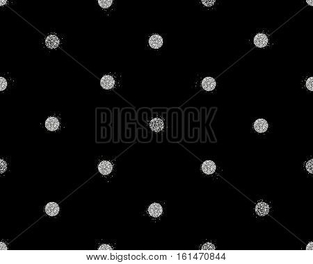 Background with shiny silver glitter dots decoration. Seamless pattern. Great for christmas and birthday cards, celebration posters, wedding invitations. EPS10 vector illustration.