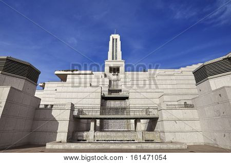 Salt Lake City, Usa - October 23, 2016: Exterior Of The 21,000 Seat Lds Conference Center, Believed