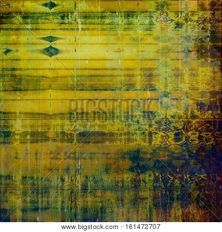Abstract grunge weathered background of vintage texture. With different color patterns: yellow (beige); brown; green; blue; purple (violet)