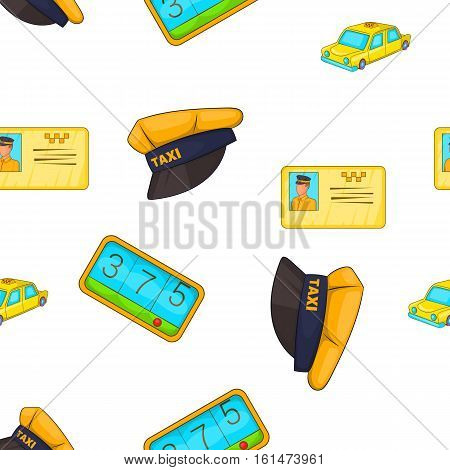 Taxi pattern. Cartoon illustration of taxi vector pattern for web