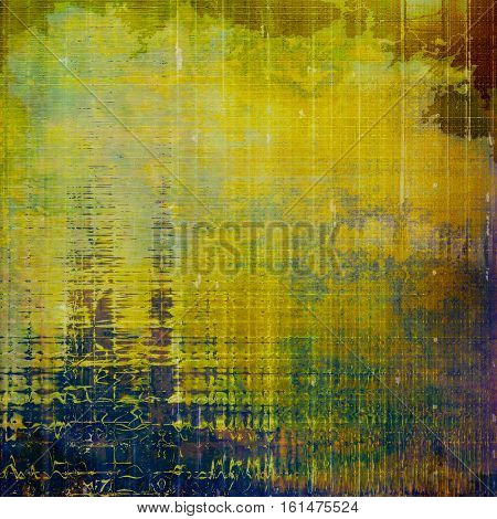 Abstract grunge background or damaged vintage texture. With different color patterns: yellow (beige); brown; green; blue; purple (violet)
