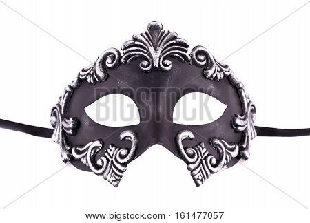 Carnival mask isolated on white background, close up picture.