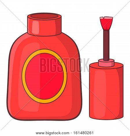 Nail polish icon. Cartoon illustration of nail polish vector icon for web design