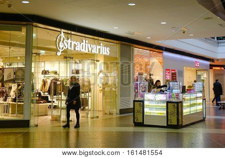Fashion Shops At Shopping Mall In Moscow