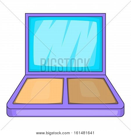 Makeup palette icon. Cartoon illustration of makeup palette vector icon for web design