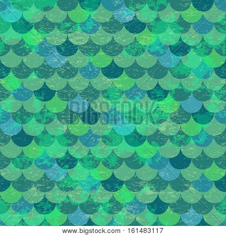 Dragon skin background. Fish scales vector seamless pattern
