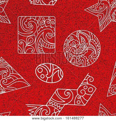 Monochrome seamless ethnic pattern. Decorative ornamental backdrop for fabric, textile, wrapping paper, card, invitation, wallpaper, web design