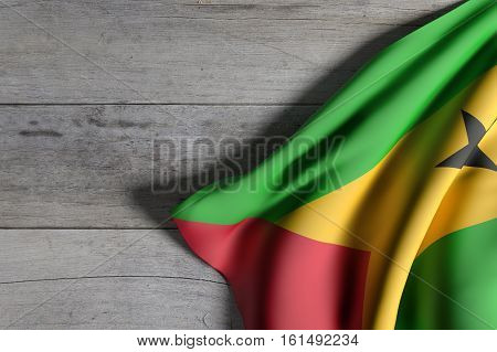 Democratic Republic Of Sao Tome And Principe Flag Waving