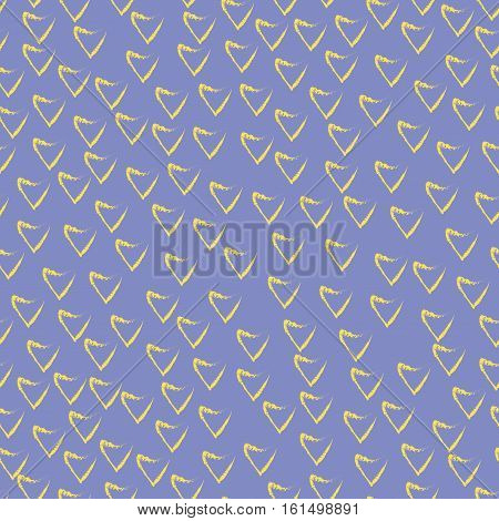Heart chaotic seamless pattern. Fashion graphic background design. Modern stylish abstract color texture. Template for prints textiles wrapping wallpaper website etc. Stock VECTOR illustration