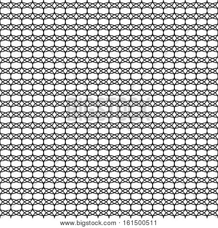 Oval geometric seamless pattern. Fashion graphic background design. Modern stylish abstract monochrome texture. Template for prints textiles wrapping wallpaper website. Stock VECTOR illustration