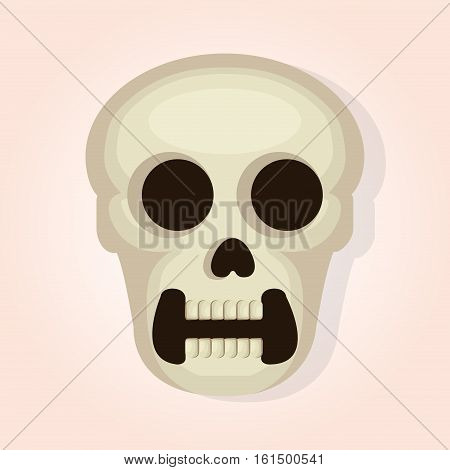 skull head dead day vector illustration design