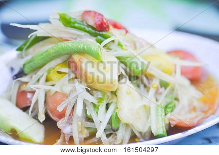 som tam, spicy salad dish or Thai food