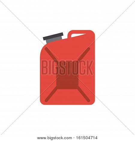 red gallon icon over white background. colorful design. vector illustration