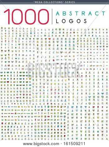 1000 Vector Abstract Logo Icons Mega Collection poster