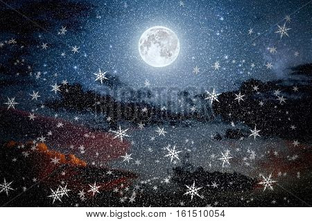 christmas backgrounds night sky . Elements of this image furnished by NASA