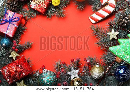 Colorful Firry Christmas Wreath