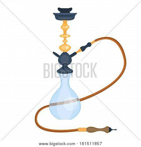 Arabian hookah. Oriental tradition. Vector illustration, cartoon style