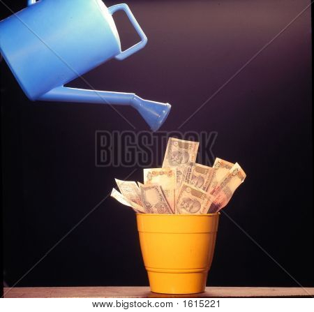 Money Does Not Grow On Trees ,It Has To Be Watered  Like  Plants To Make It Grow