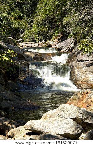 Cullasaja River rapids near Highlands, NC. Great swimming hole.
