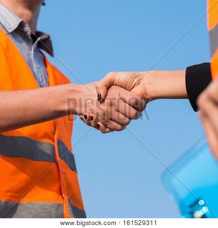 Civil Engineers Handshaking