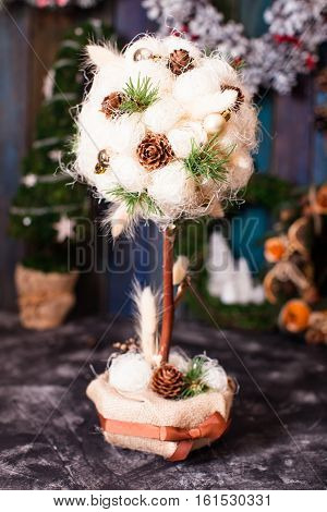 Christmas fair, Large Choice of topiary cone trees