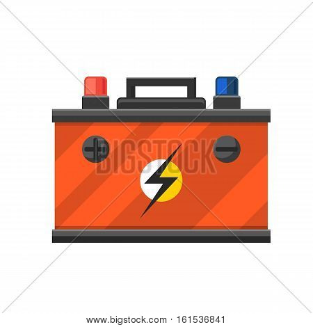 Accumulator battery energy power and electricity. Accumulator battery generation energy. Battery accumulator car auto parts electrical supply power isolated vector