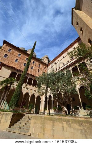 The Benedictine Monastery of Montserrat (Monasterio de Montserrat) is a recognized landmark Spain. Today the monastery is the spiritual centre of Catalonia and a place of pilgrimage. Located Montserrat Monastery high in the mountains at the level of 725 m