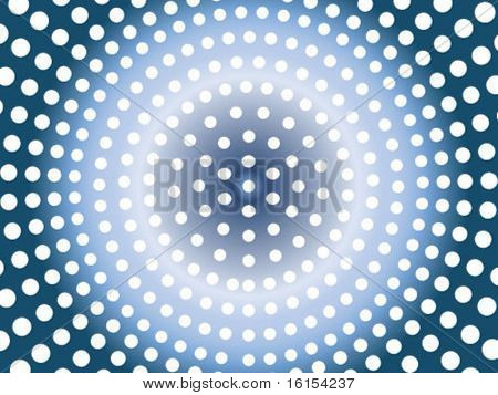 Sunbeam with dots - abstract background