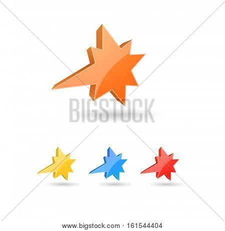 splash star icon 3d