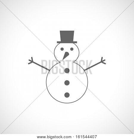 snowman black icon
