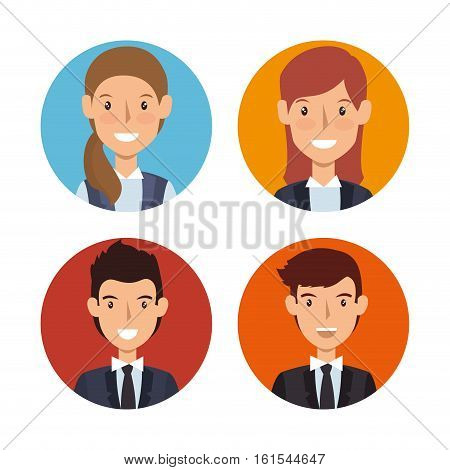 business people characters icon vector illustration design