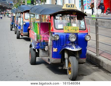 Tuk Tuk On Street In Bangkok, Thailand