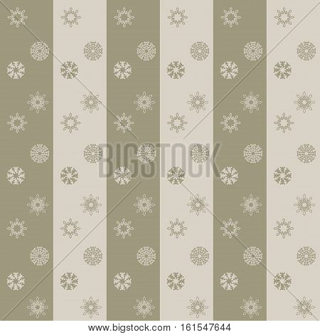 Christmas snowflakes seamless background. New year vector illustration.