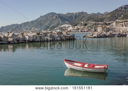A view of Vietri sul Mare from Salerno's seaside destination for tourism and culture