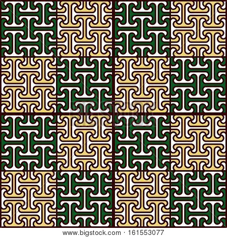 Abstract seamless ornamental pattern in Egyptian style